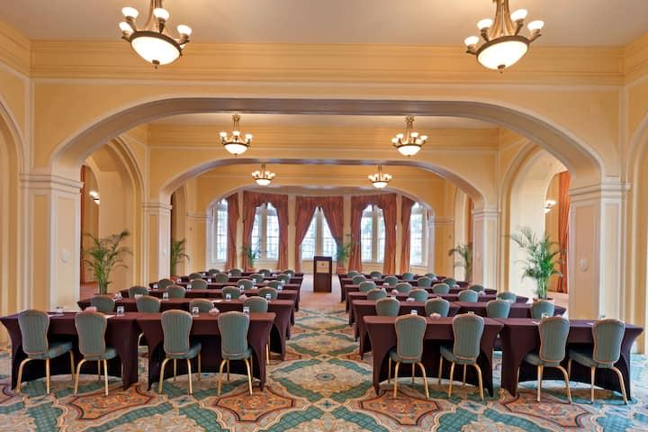 Meeting room at Hotel Galvez & Spa A Wyndham Grand Hotel in Galveston, Texas