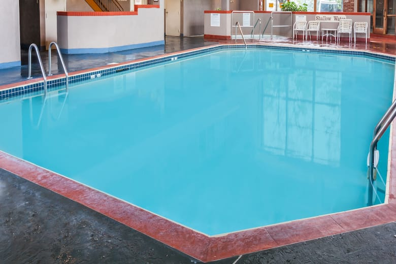 Pool At The Howard Johnson Inn And Suites Toronto East In Ontario