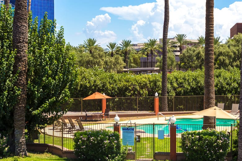 Pool At The Howard Johnson Phoenix Airport Downtown Area In Arizona
