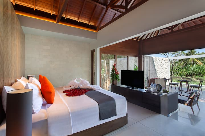 Guest room at the Wyndham Tamansari Jivva Resort Bali in Klungkung, Other than US/Canada