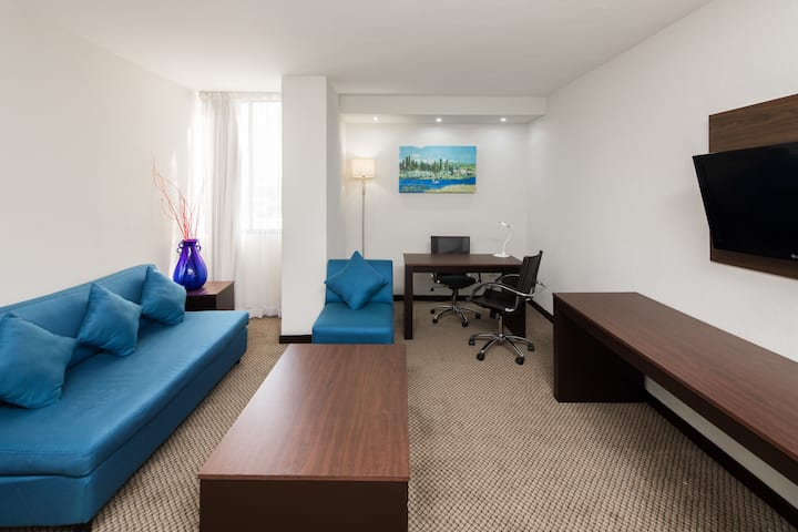Guest room at the Wyndham Executivo Culiacan in Culiacan, Other than US/Canada