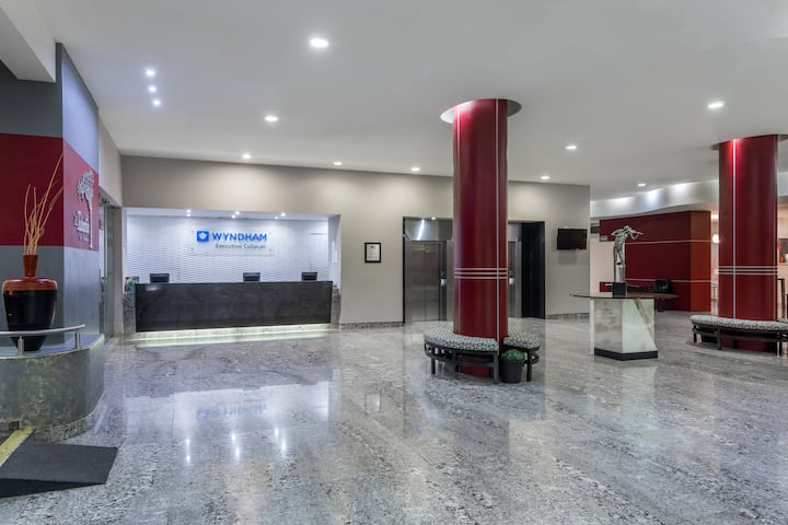 Wyndham Executivo Culiacan hotel lobby in Culiacan, Other than US/Canada