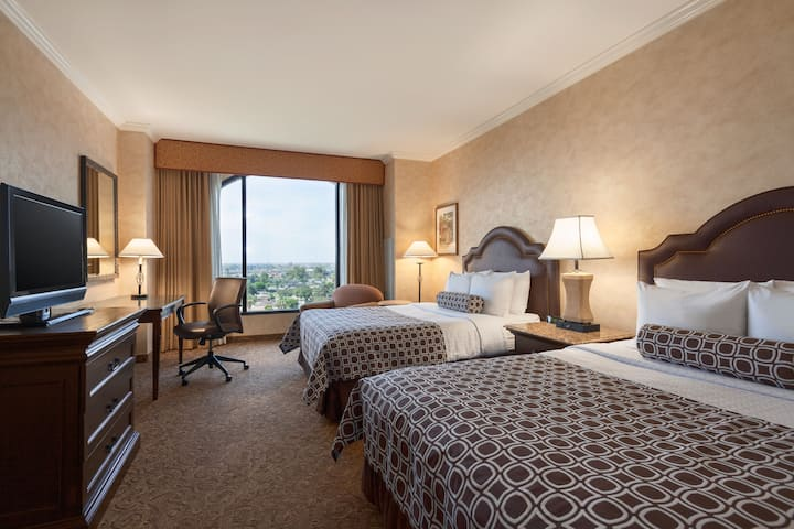 Guest room at the Wyndham Anaheim Garden Grove in Anaheim, California