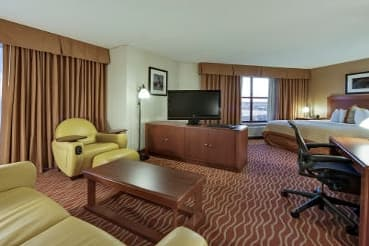 Guest room at the Wyndham Boston Chelsea in Chelsea, Massachusetts
