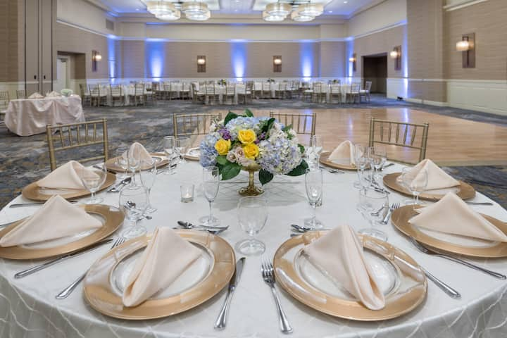 Wyndham Hamilton Park Hotel and Conference Center ballroom in Florham Park, New Jersey