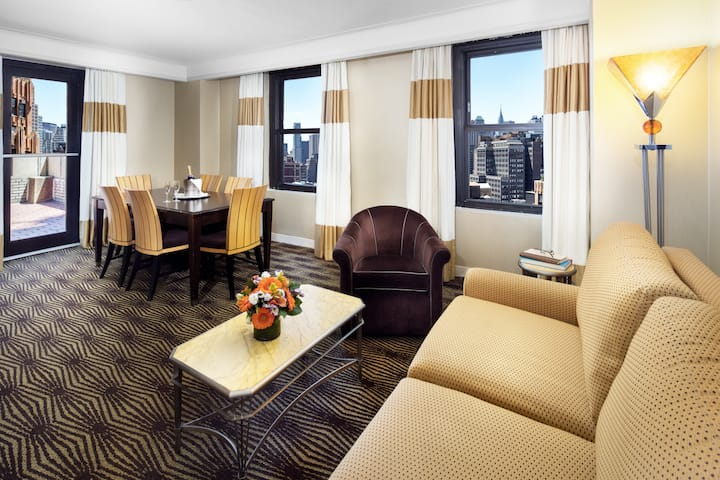 Guest room at the The New Yorker A Wyndham Hotel in New York, New York