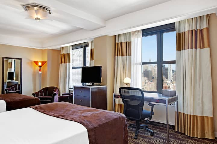 Guest room at the The New Yorker A Wyndham Hotel in New York City, New York