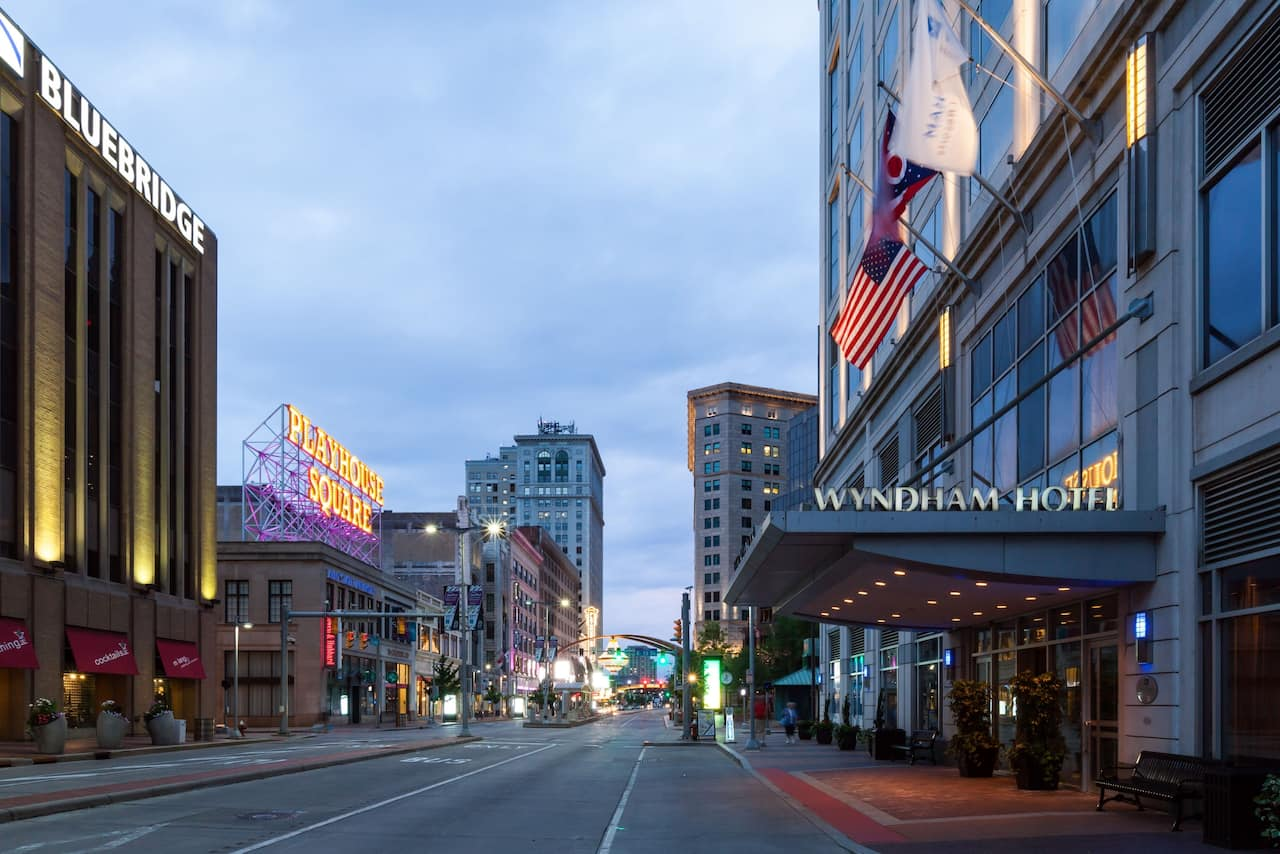 Wyndham Cleveland at Playhouse Square near Canal Park Stadium