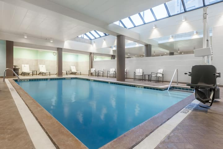 Pool at the Wyndham Pittsburgh University Center in Pittsburgh, Pennsylvania