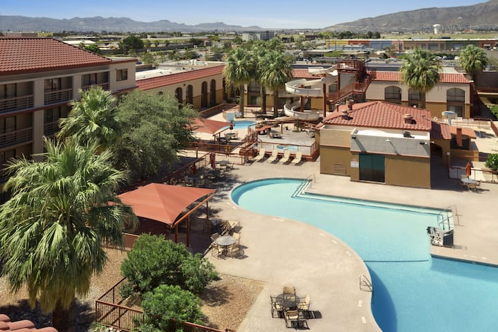 Pool at the Wyndham El Paso Airport Hotel and Water Park in El Paso, Texas
