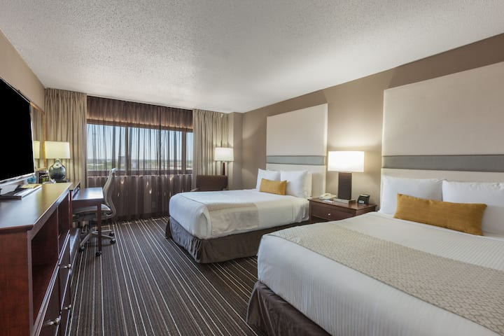 Guest room at the Wyndham Houston West Energy Corridor in Houston, Texas