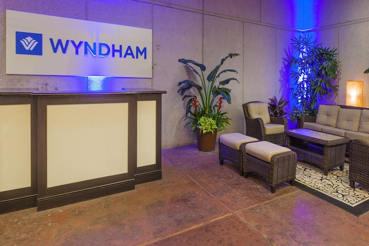Wyndham Houston West Energy Corridor hotel lobby in Houston, Texas