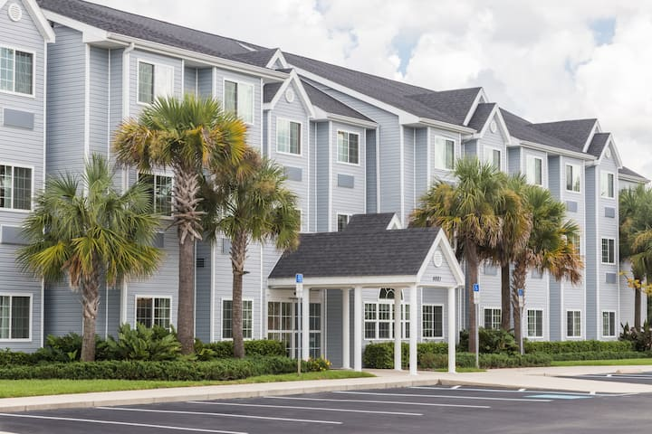 Exterior Of Microtel Inn Suites By Wyndham Spring Hill Weeki Wachee Hotel In