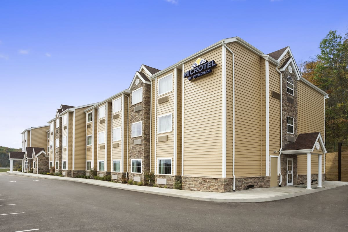 Exterior Of Microtel Inn Suites By Wyndham Cambridge Hotel In Ohio