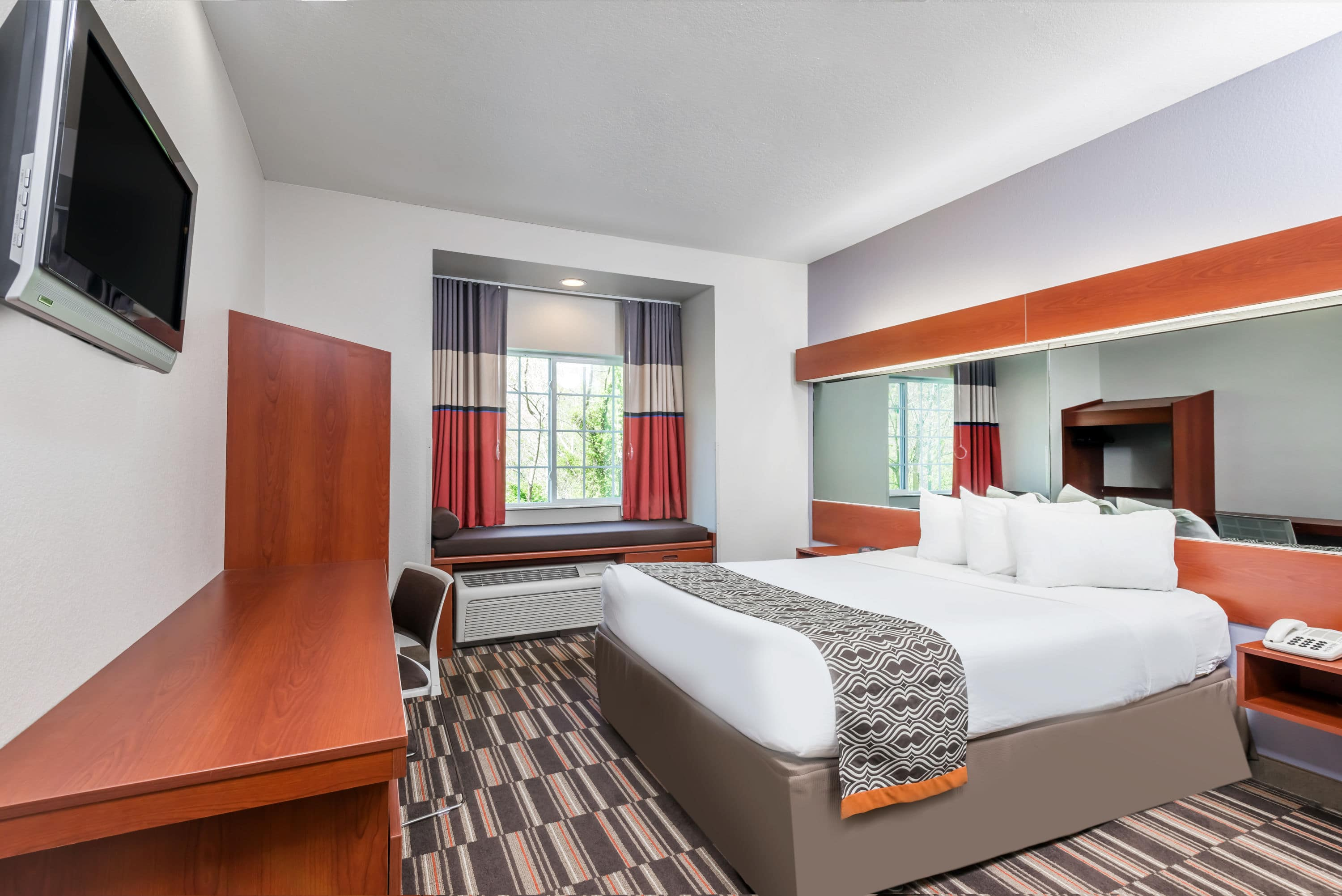 Guest Room At The Microtel Inn U Suites By Wyndham Morgantown In West Virginia With Hotels Near Ruby Memorial Hospital Wv