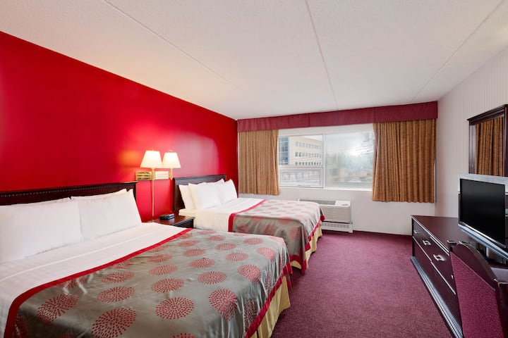 Guest room at the Ramada Limited Calgary Northwest in Calgary, Alberta