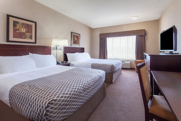 Guest room at the Ramada Camrose in Camrose, Alberta