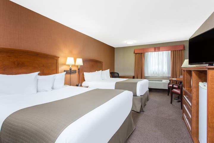 Guest room at the Ramada Canmore in Canmore, Alberta