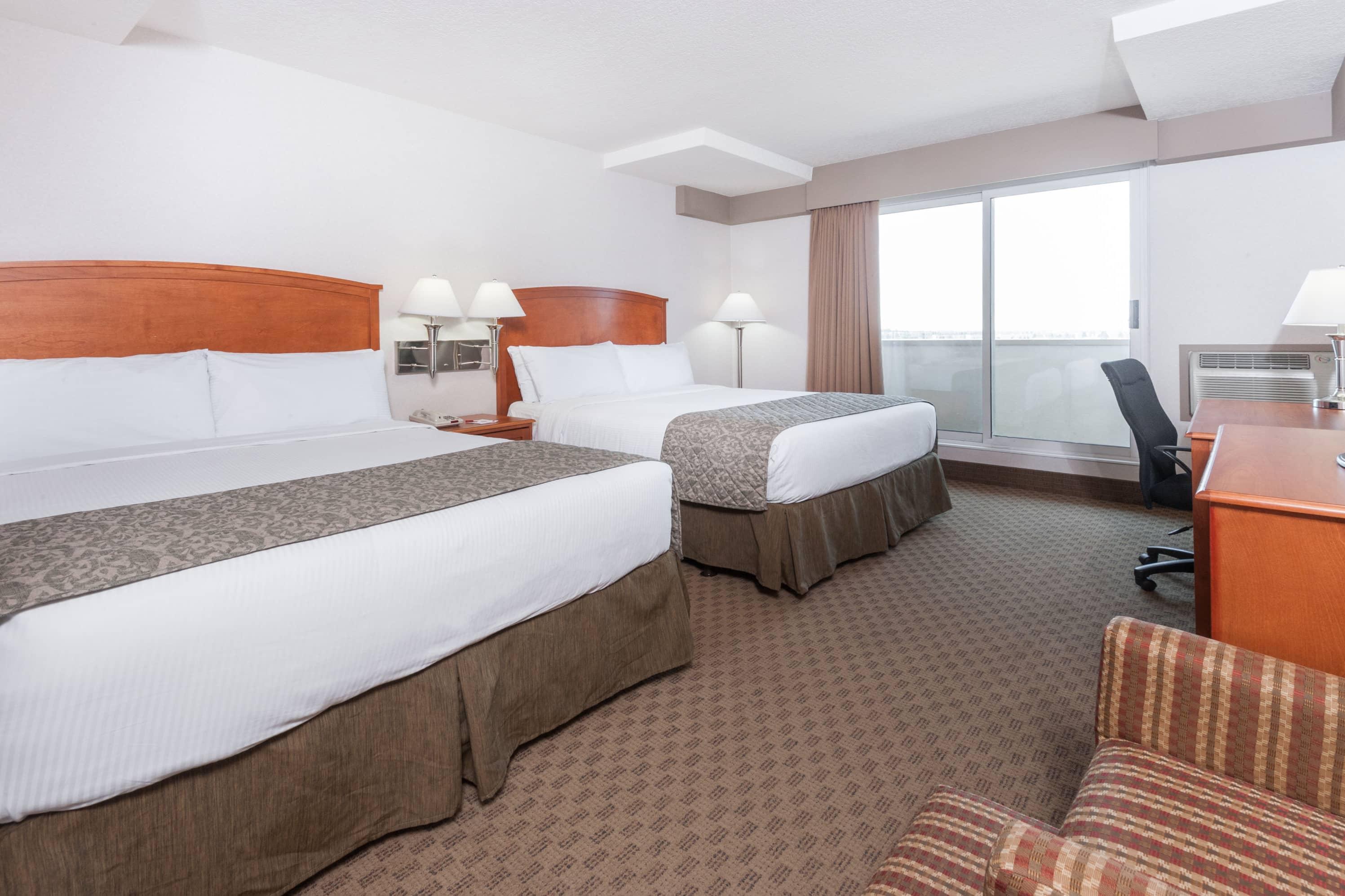 Guest room at the Ramada Edmonton South in Edmonton, Alberta