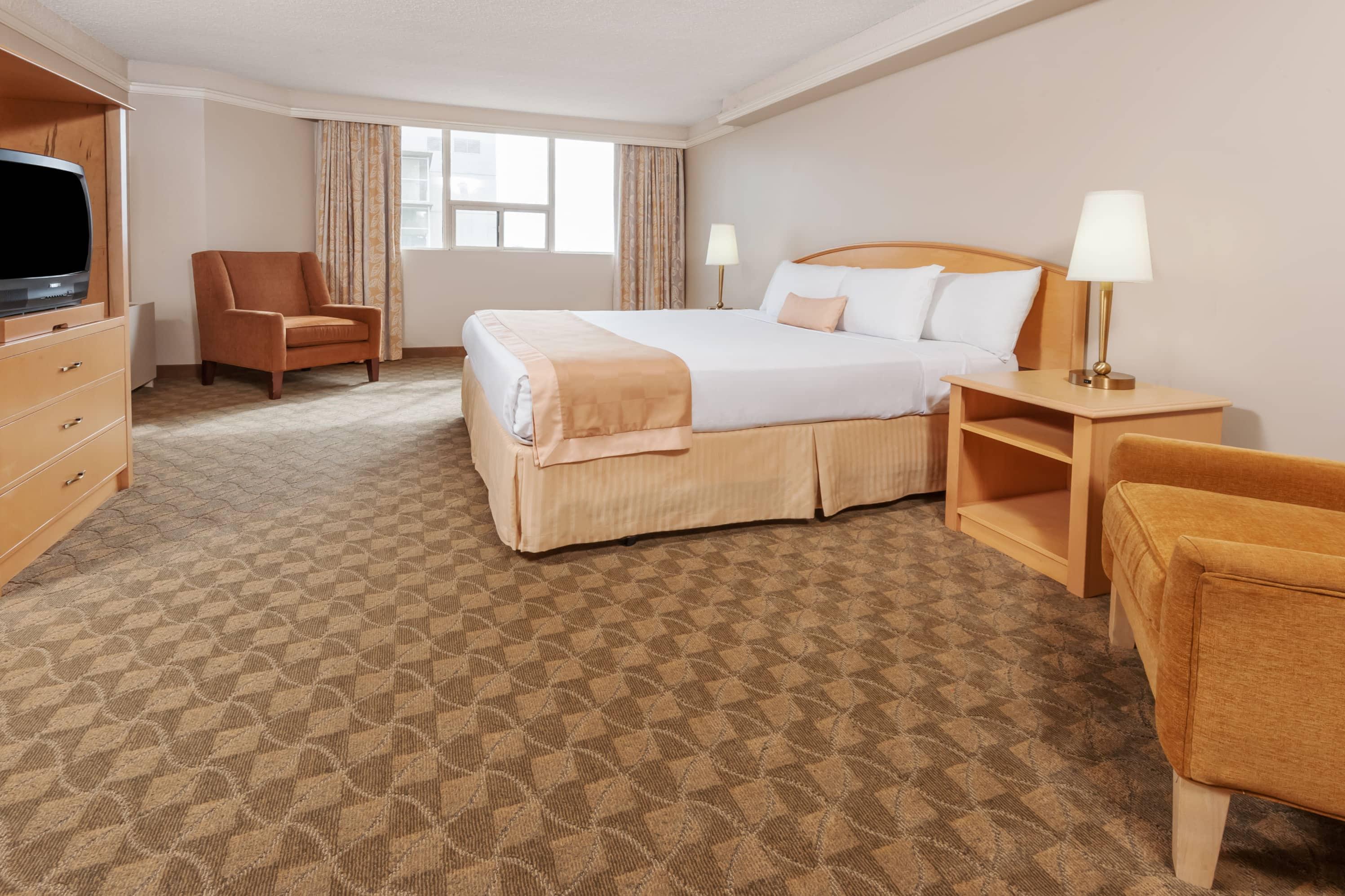 Guest room at the Ramada Edmonton Hotel & Conference Centre in Edmonton, Alberta