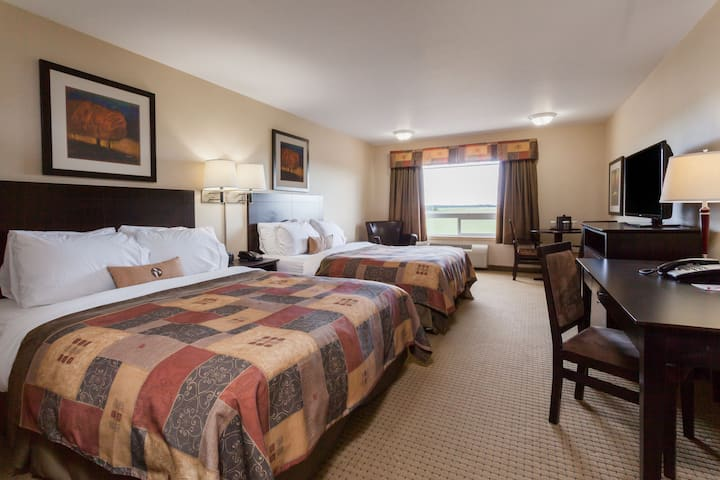 Guest room at the Ramada Westlock in Westlock, Alberta