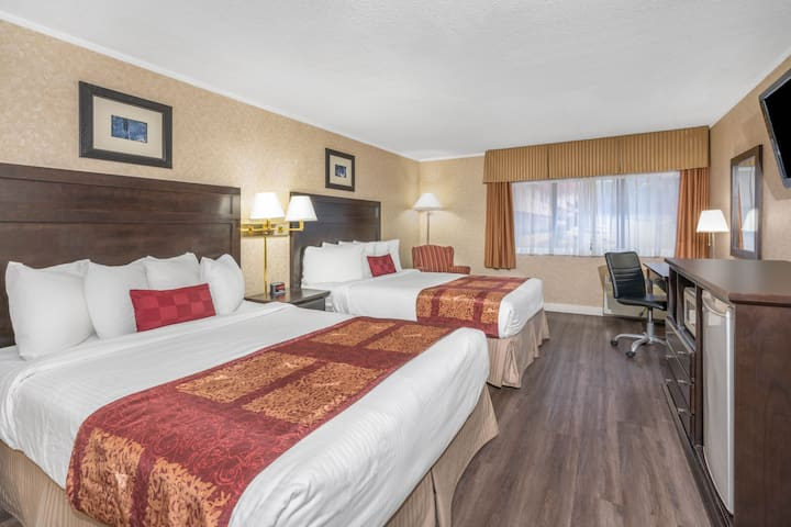 Guest room at the Ramada Coquitlam in Coquitlam, British Columbia