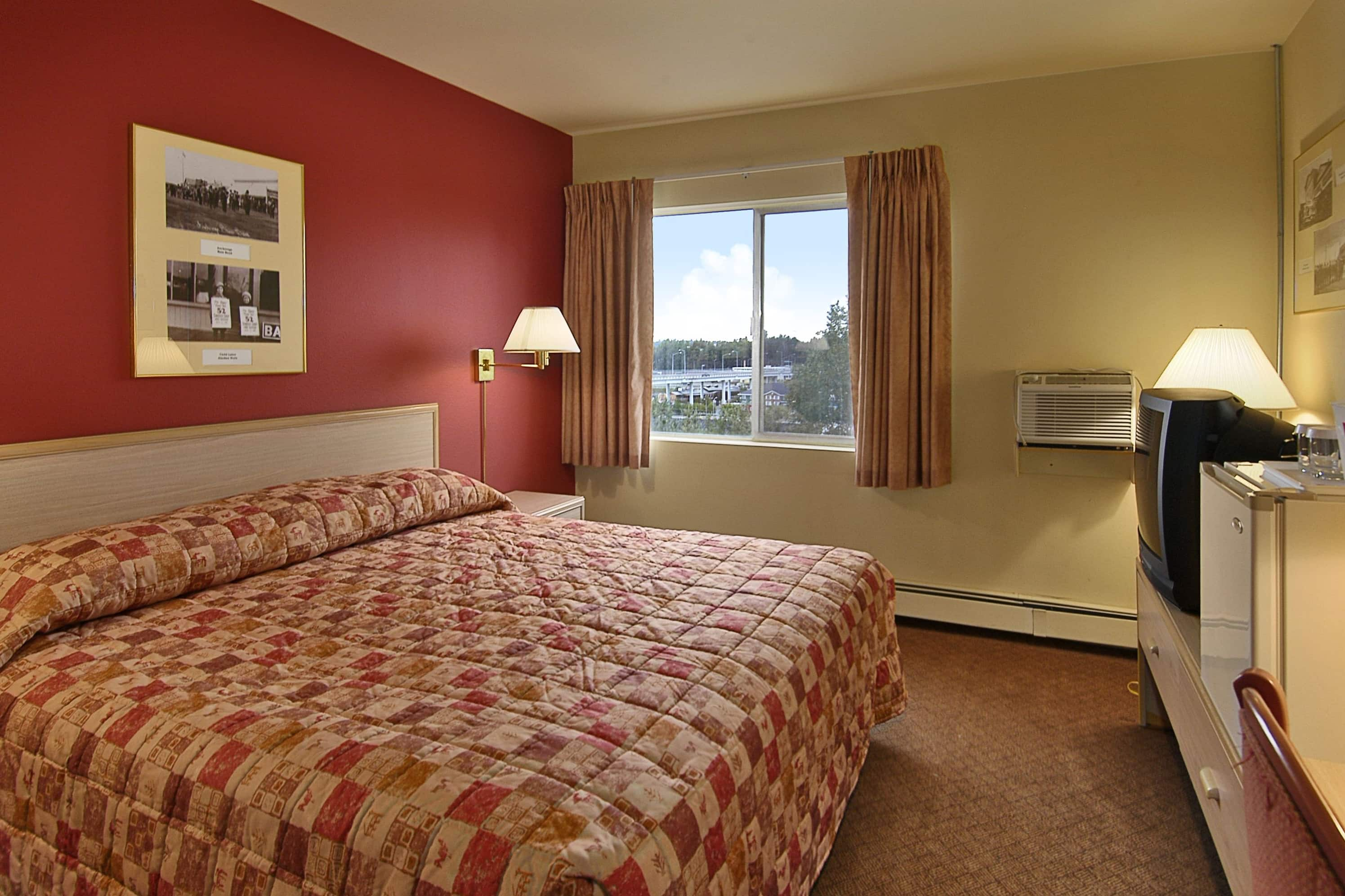 Guest room at the Ramada Anchorage in Anchorage, Alaska