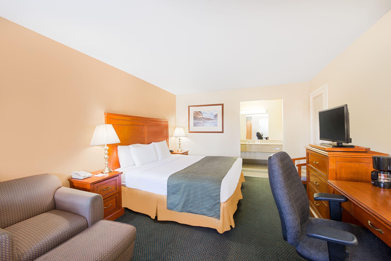 Guest room at the Ramada Flagstaff East in Flagstaff, Arizona