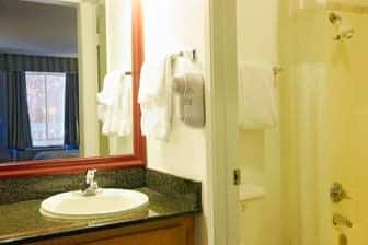 Guest room at the Ramada Antioch in Antioch, California