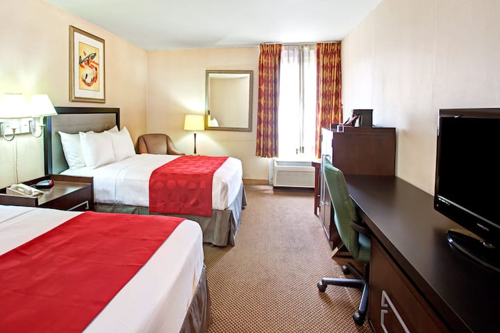 Guest room at the Ramada Commerce/Los Angeles Area in Commerce, California