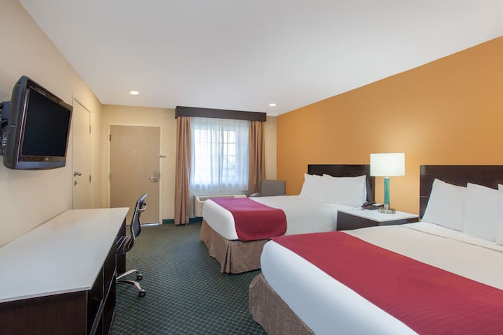 Guest room at the Ramada Culver City in Culver City, California