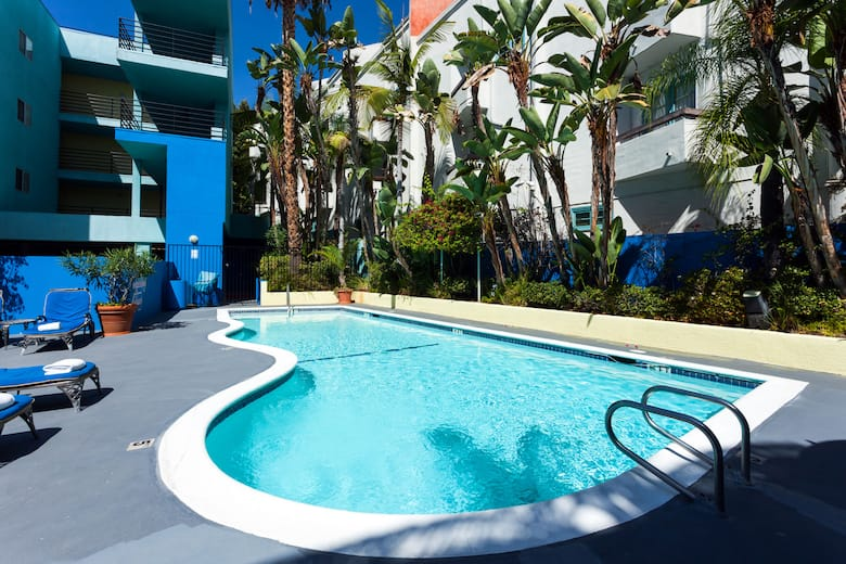 Pool At The Ramada Plaza West Hollywood Hotel Suites In California