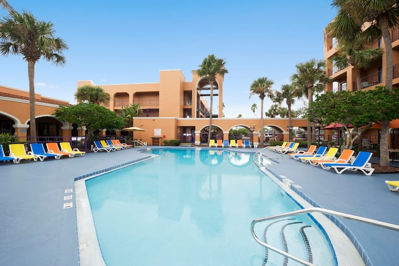 Pool At The Ramada Kissimmee Downtown Hotel In Florida