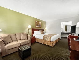 Guest Room At The Ramada Temple Terrace/Tampa North In Tampa, Florida