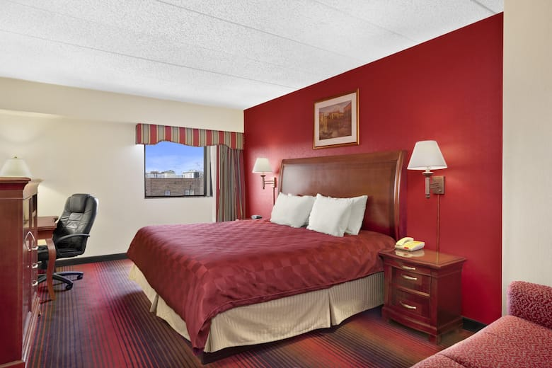 Guest Room At The Ramada By Wyndham East Orange In New Jersey