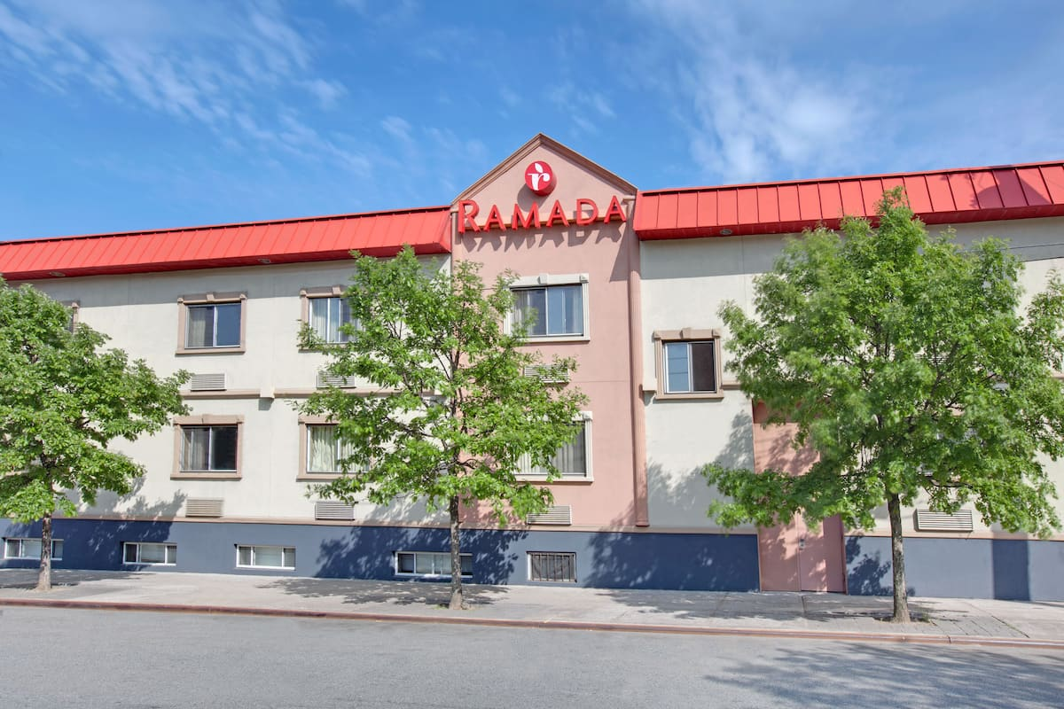 Exterior Of Ramada Bronx Hotel In New York