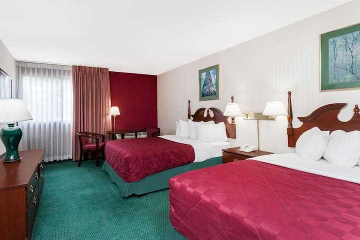 Guest room at the Ramada Queensbury/Lake George in Queensbury, New York