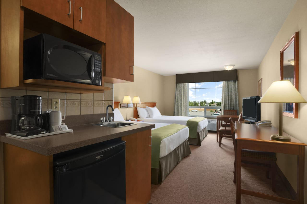 at the Super 8 by Wyndham Fort St. John BC in Fort St. John, British Columbia
