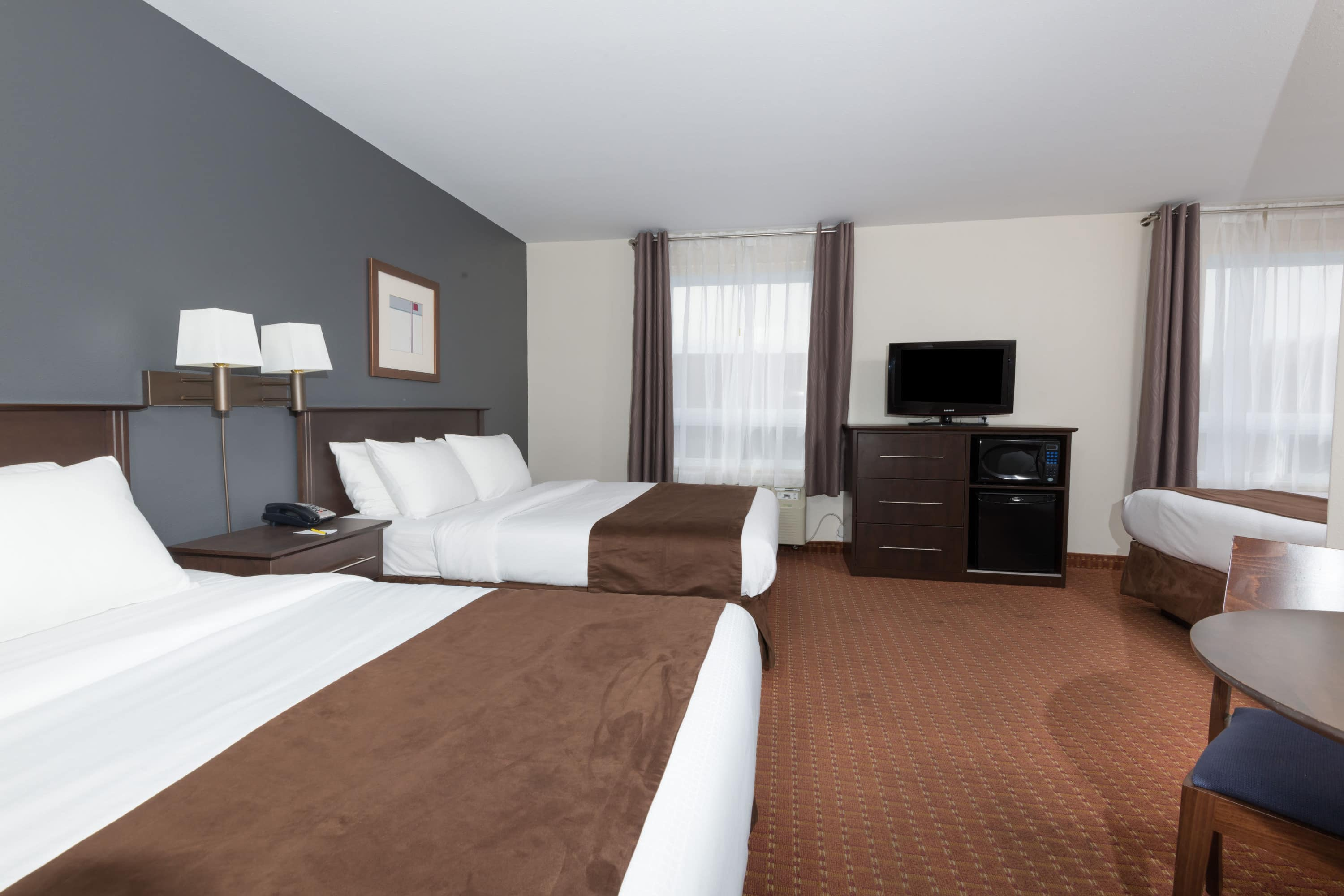 Guest room at the Super 8 by Wyndham Quebec City in Quebec City, Quebec