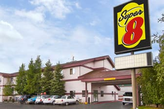 Exterior Of Super 8 Fairbanks Hotel In Alaska