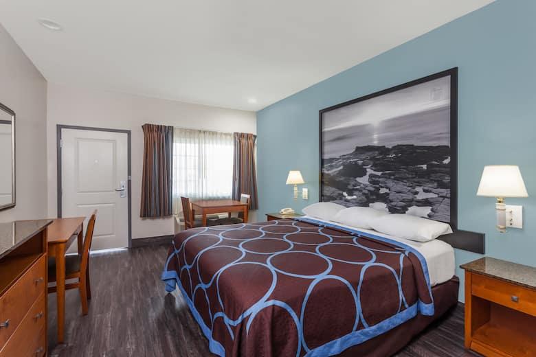 Guest Room At The Super 8 El Cajon Ca In California