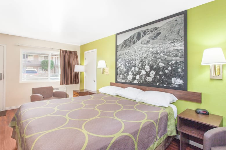 Guest Room At The Super 8 Los Angeles Alhambra In California
