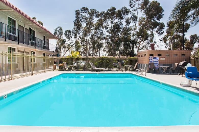 Pool At The Super 8 Redlands San Bernardino In California