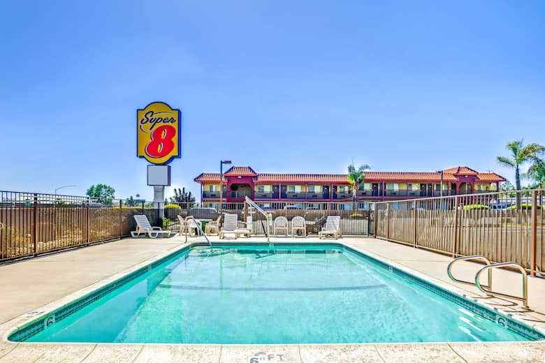 Pool At The Super 8 Upland Ontario Ca In California