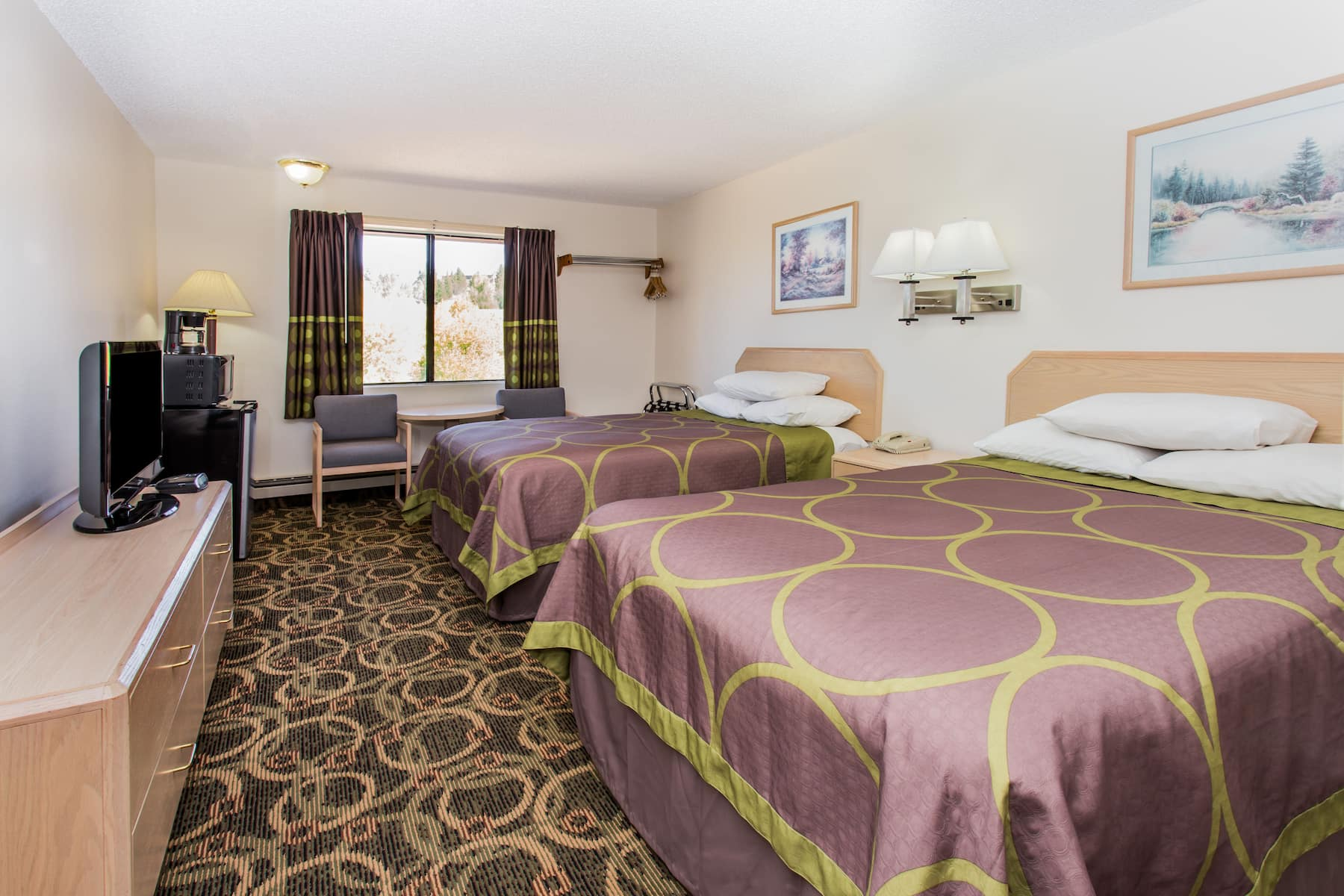 Guest room at the super 8 leadville co in leadville colorado