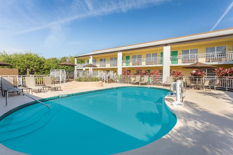 Pool At The Super 8 By Wyndham Ellenton Bradenton Area In Florida