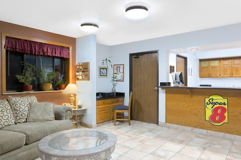Super 8 Boone Hotel Lobby In Iowa