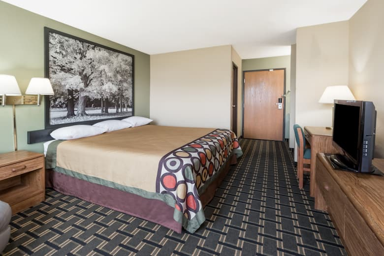 Guest Room At The Super 8 Greenville In Illinois