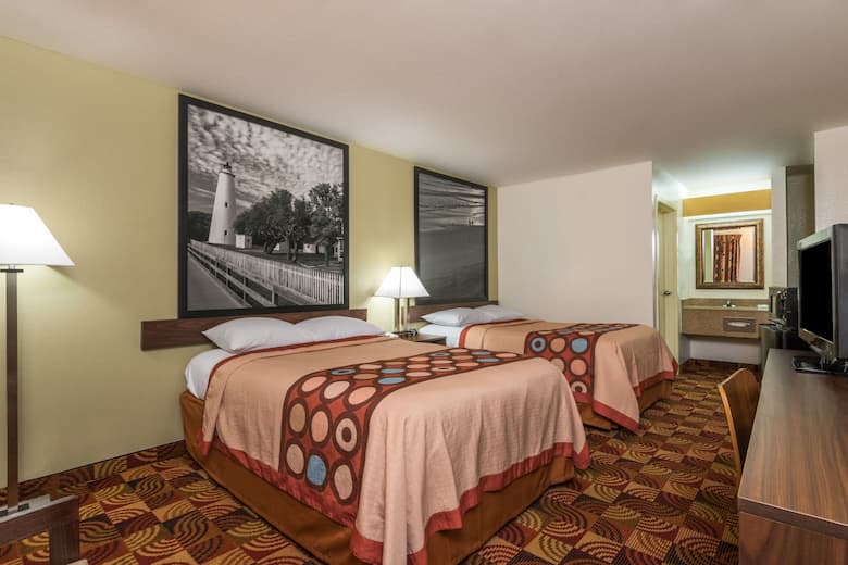 Guest Room At The Super 8 Fayetteville In North Carolina