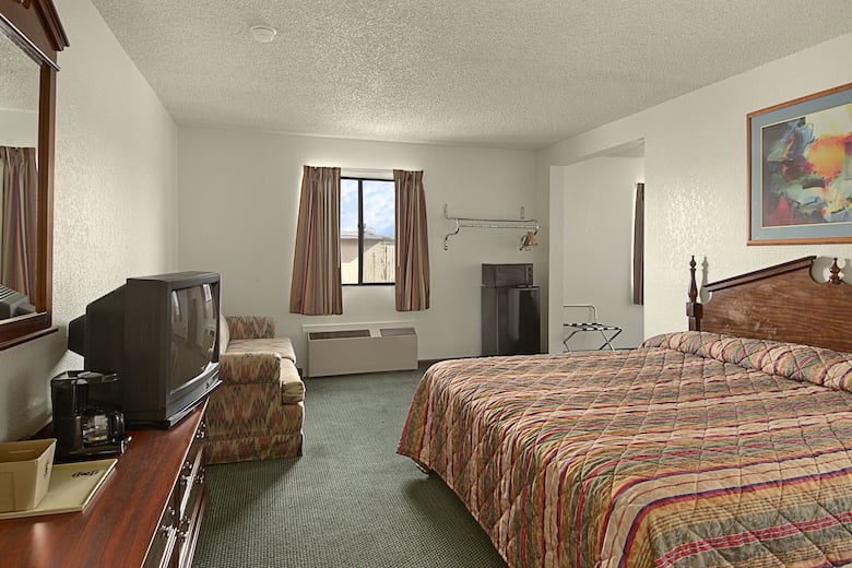 Guest room at the Super 8 by Wyndham Gallup in Gallup, New Mexico